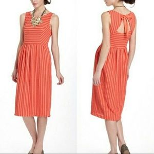 { Anthropologie } Postmark Orange Pleated Dress